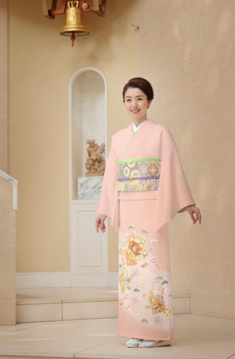 色留袖ピンク/結婚式